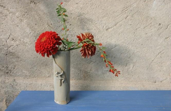 """Petit vase """"Orpierre"""", grès émaillé."""