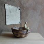 Ma coquille de noix, 90€. Dimensions  (H × L × l): 20 x 17 x 18 cm
